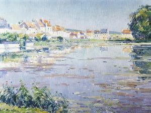 Houses on the Lake in Boitsfort by Paul Mathieu