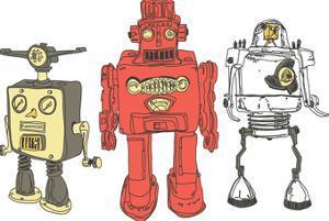 Three Robots by Paul McCreery
