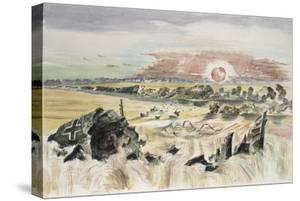 Bomber in the Corn by Paul Nash