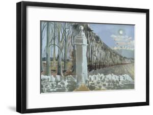 Pillar and Moon by Paul Nash