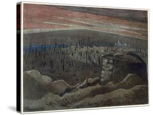 Sanctuary Wood, British Artists at the Front, Continuation of the Western Front, Nash, 1918 by Paul Nash
