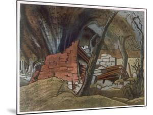 Shell Bursting, British Artists at the Front, Continuation of the Western Front, Nash, 1918 by Paul Nash