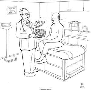 """""""Diagnosis cookie?"""" - New Yorker Cartoon by Paul Noth"""