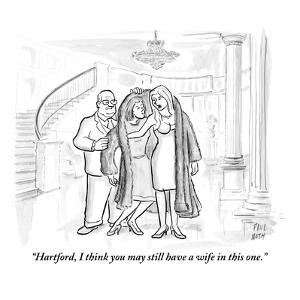 """""""Hartford, I think you may still have a wife in this one."""" - New Yorker Cartoon by Paul Noth"""