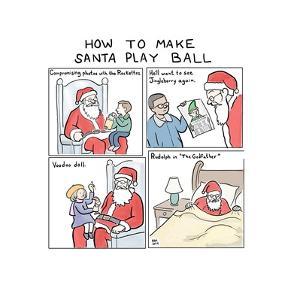 How to Make Santa Play Ball - Cartoon by Paul Noth