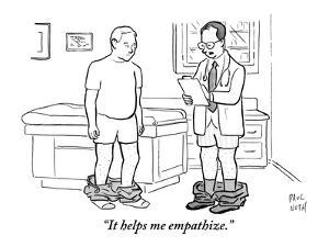 """It helps me empathize."" - New Yorker Cartoon by Paul Noth"