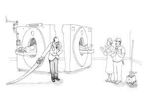MRI magician - New Yorker Cartoon by Paul Noth