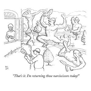 """""""That's it. I'm returning those narciscissors today!"""" - New Yorker Cartoon by Paul Noth"""