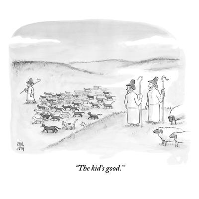 """The kid's good."" - New Yorker Cartoon"