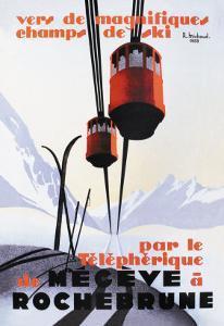Skiing and Tram by Paul Ordner