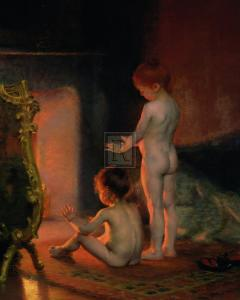 After the Bath, c.1890 by Paul Peel