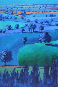 Blue painting by Paul Powis
