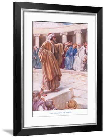 Paul Preaches at Athens-Arthur A. Dixon-Framed Giclee Print