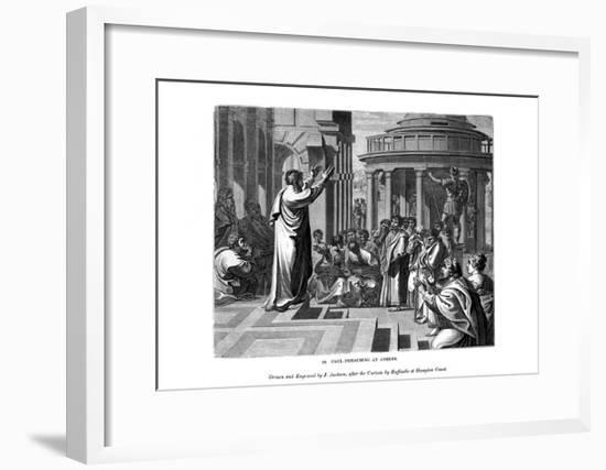 Paul Preaching at Athens, 1843-J Jackson-Framed Giclee Print