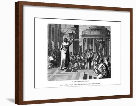 Paul Preaching at Athens, 1843-J Jackson-Framed Giclee Print