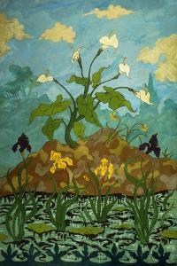 Lilies, Purple and Yellow Irises; Aromes, Iris Violets Et Jaunes, 1899 by Paul Ranson