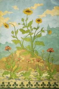 Sunflowers and Poppies; Soucis Et Pavots, 1899 by Paul Ranson