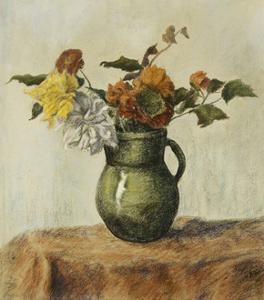 Vase of Flowers; Vase de Fleurs, c.1900 by Paul Ranson