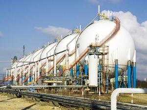 Oil Refinery Storage Tanks by Paul Rapson