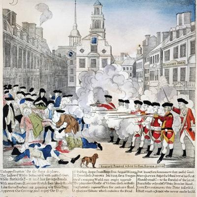 Boston Massacre, 1770 by Paul Revere