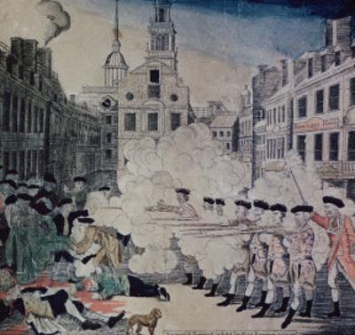 Boston Massacre, March 5,1770 by Paul Revere