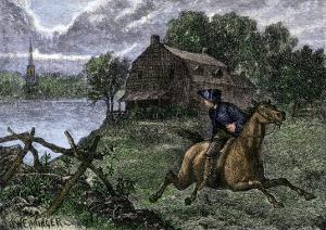 Paul Revere Riding to Lexington to Warn the Minutemen the British Were Coming, 1775