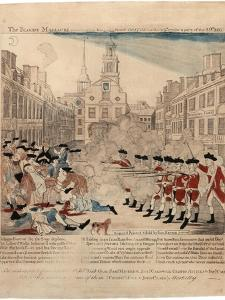 The Bloody Massacre Perpetrate in King-Street Boston on March 5th 1770 by a Party of the 29th… by Paul Revere