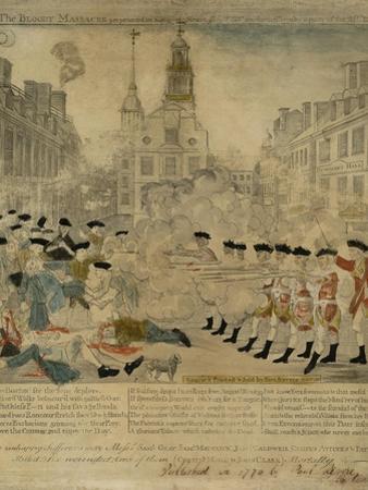 The Boston Massacre Engraving by Paul Revere