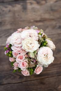 Wedding Bouquet of Peonies by Paul Rich Studio