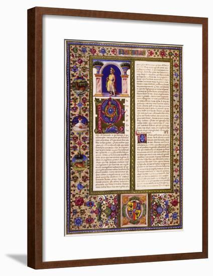 Paul's Letter to Galatians, from Volume II of Bible of Borso D'Este, Illuminated by Taddeo Crivelli--Framed Giclee Print