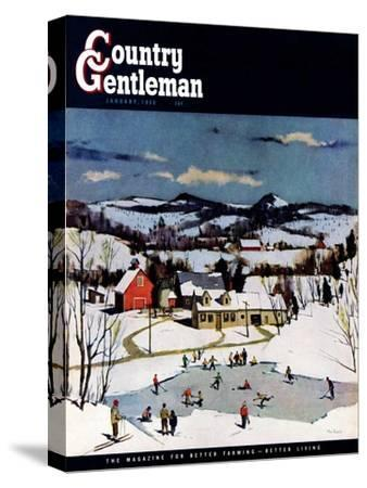 """""""Skating on Farm Pond,"""" Country Gentleman Cover, January 1, 1950"""