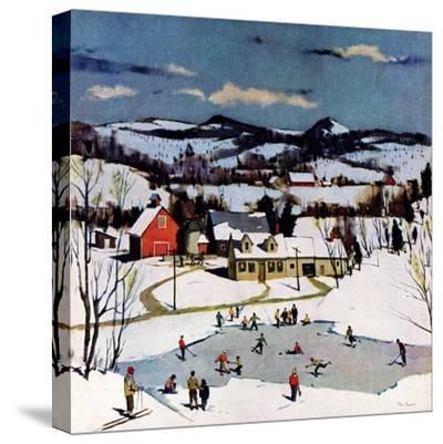 """Skating on Farm Pond,""January 1, 1950"