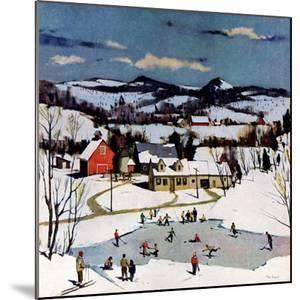 """Skating on Farm Pond,""January 1, 1950 by Paul Sample"