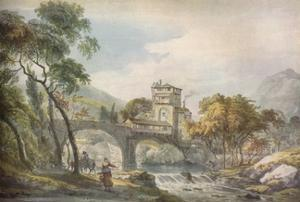'A Classical Landscape', c18th century by Paul Sandby