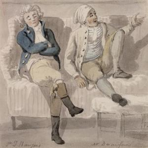 Bourgeois and Desenfans, 1805 by Paul Sandby