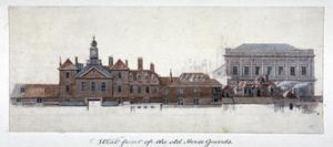 East Front of Horse Guards, Westminster, London, C1749 by Paul Sandby