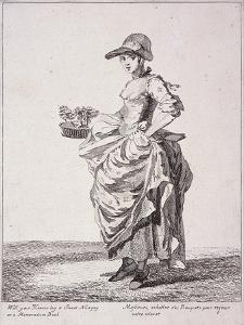 Nosegay and Memo Book Seller, Cries of London, 1760 by Paul Sandby