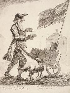 Pudding Seller, Cries of London, 1760 by Paul Sandby