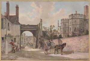 'Queen Elizabeth's Gateway, Windsor Castle', c1780 by Paul Sandby