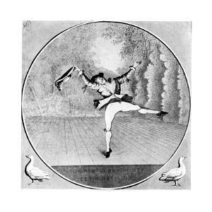 Satire on Vestris, 1781 by Paul Sandby