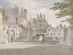Scotland Yard with Part of the Banqueting House, Whitehall, Westminster, London, C1776 by Paul Sandby