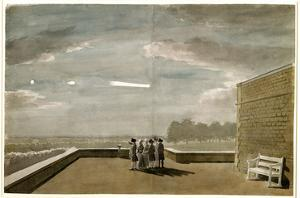 The Meteor of August 18, 1783, as Seen from the East Angle of the North Terrace, Windsor Castle by Paul Sandby