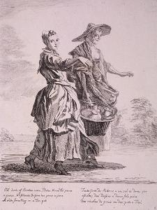 Two Crockery Sellers, Cries of London, 1760 by Paul Sandby