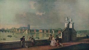 'View from the Terrace of Old Somerset House', c1770 by Paul Sandby