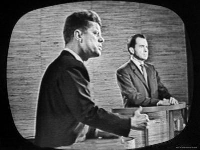 2nd Televised Debate Between Richard M. Nixon and John F. Kennedy by Paul Schutzer