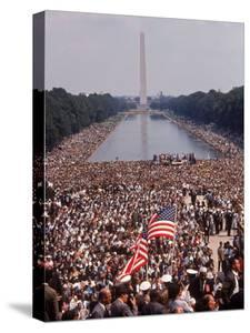 "Crowd of over 200,000 Gathered Where Martin Luther King Delivered ""I Have a Dream"" Speech by Paul Schutzer"