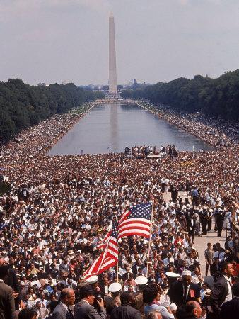 """Crowd of over 200,000 Gathered Where Martin Luther King Delivered """"I Have a Dream"""" Speech"""