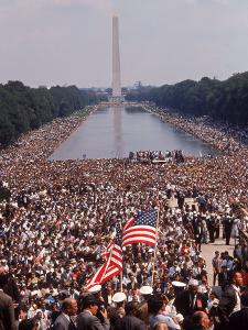 """Crowd of over 200,000 Gathered Where Martin Luther King Delivered """"I Have a Dream"""" Speech by Paul Schutzer"""