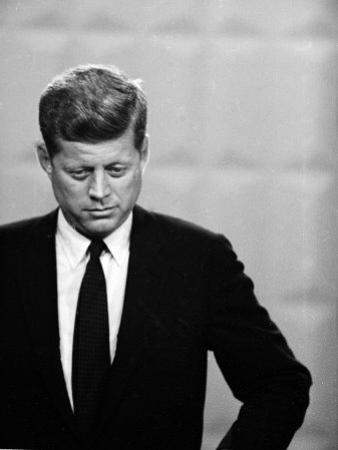 Democratic Presidential Candidate John F. Kennedy During Famed Kennedy Nixon Televised Debate