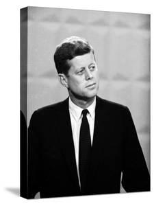 Democratic Presidential Candidate John F. Kennedy During Famed Kennedy Nixon Televised Debate by Paul Schutzer